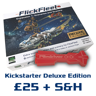 Deluxe FlickFleet expansion box and etched ship